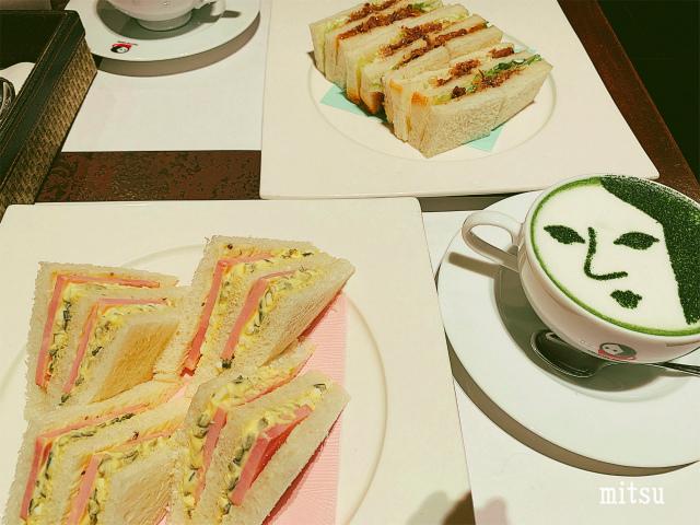 よーじやカフェ祇園店のサンドイッチ