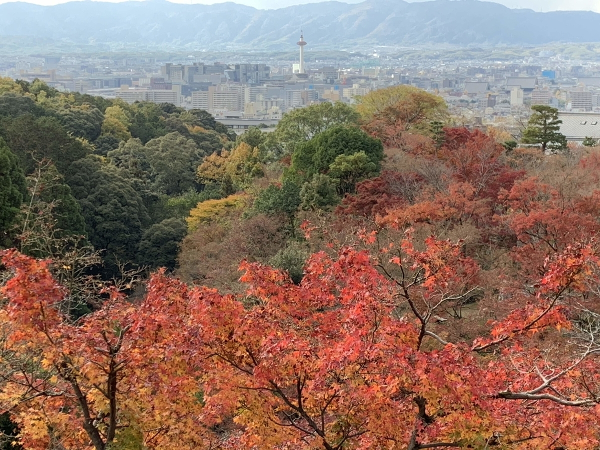清水寺から見える京都市内