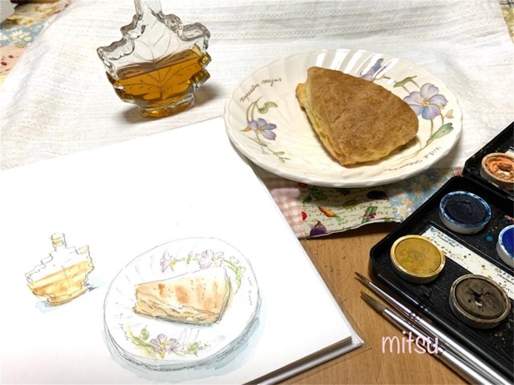 レシピとスイーツを画用紙絵本ノートに