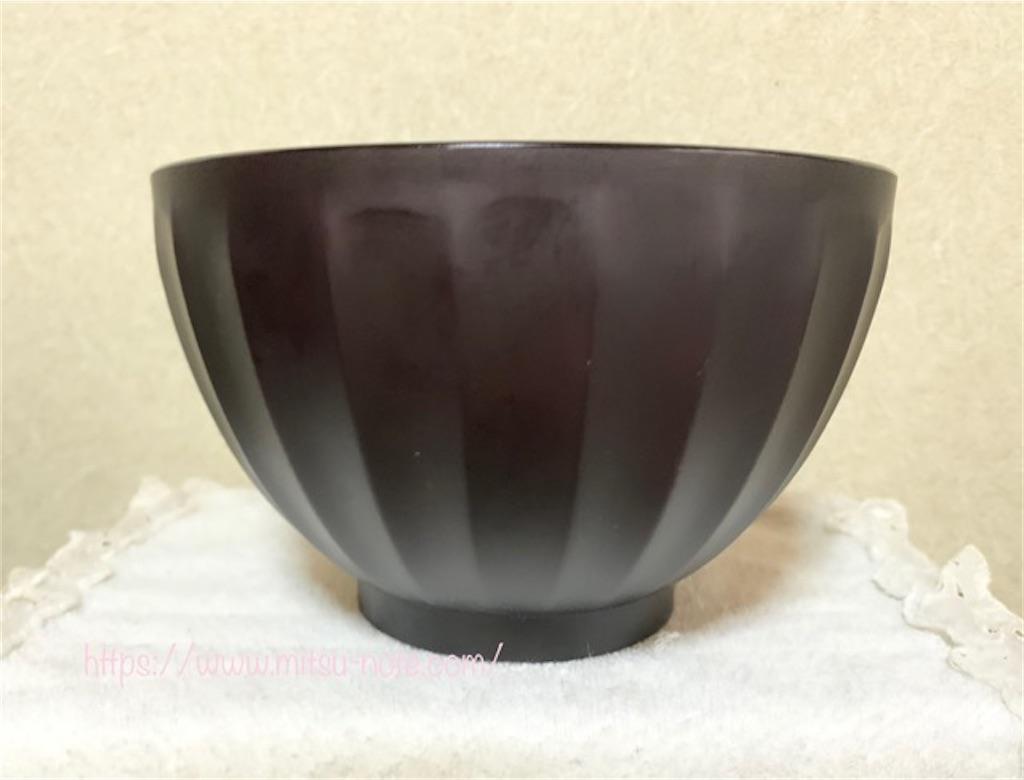 大きいけど軽くてレンジで使える漆器風の丼鉢をニトリで見つけた!