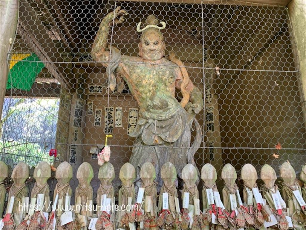 施福寺、楼門の金剛力士像