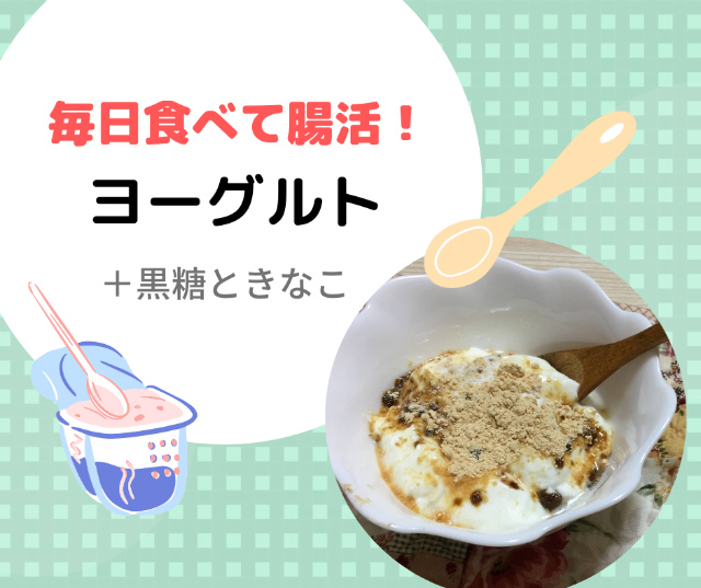 毎日食べて腸活【ヨーグルトの黒糖ときなこ】効果や食べ方