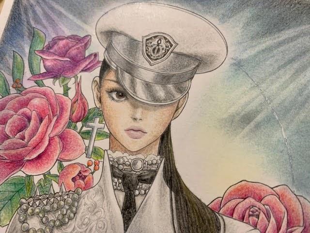 ミスティカより【軍服の女性】ステージ上の歌手のイメージで塗ってみた