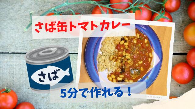 【5分で作れるさば缶トマトカレー】は包丁いらずで時短料理にオススメ!