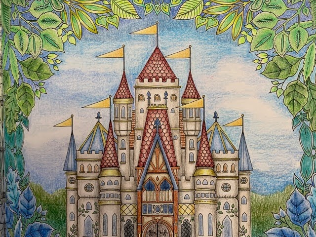 『ねむれる森』のお城を塗ってみた