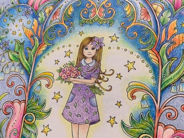 『不思議な蝶』よりプリズマカラーで塗ってみたアイビーちゃんのページ