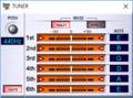 VG-99 Editorで見たチューニング 標準ロック