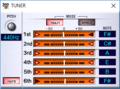 VG-99 Editorで見たチューニング 1音上げロック