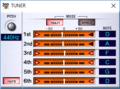 VG-99 Editorで見たチューニング 1音下げロック