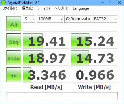 CDM 2.2.0で見たKlevv NEO 32GB