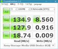 8GBなSony Storage Media USB DeviceでCDM 2.2.0
