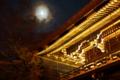 『京都新聞写真コンテスト  月明かりに浮かぶ寺門』
