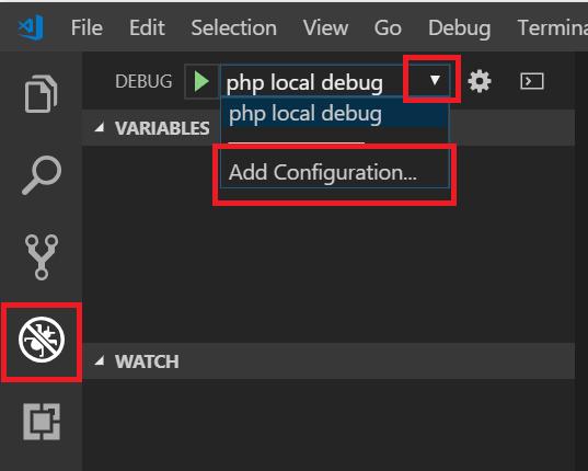 PHP Debugの設定ファイルの開き方