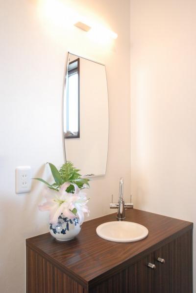 倉敷市・ペットと暮らす家の洗面手洗い