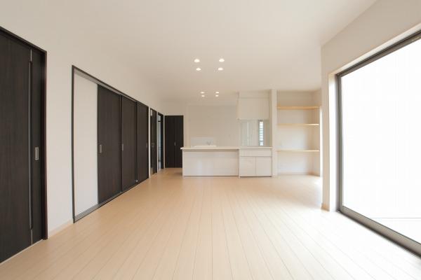 岡山県倉敷市の新築4LDKの家・リビングダイニング