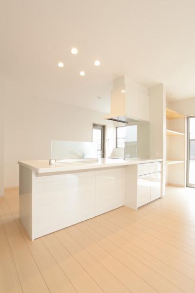 岡山県倉敷市の新築4LDKの家・キッチン