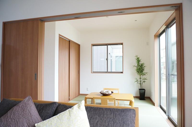 尾道市の新築4LDK 片流れの家 和室