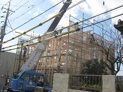 倉敷市 小さな可愛いこだわりの家 新築工事 上棟