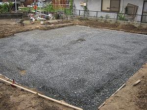 岡山県浅口市6LDKの2世帯住宅・基礎工事