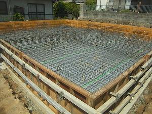 岡山県浅口市6LDKの2世帯住宅・配筋