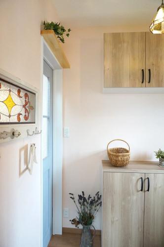 倉敷市の3LDKの可愛い家・玄関ドア