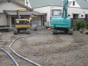 地盤改良工事 開始