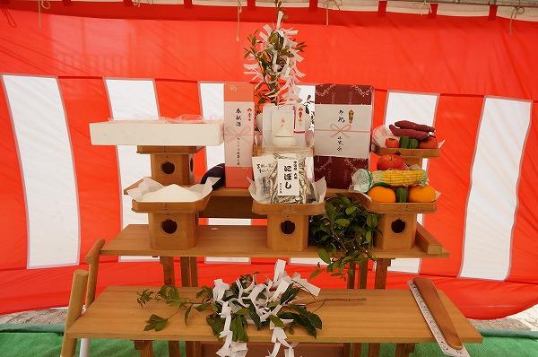 浅口市寄島町 6LDKの2世帯住宅・地鎮祭