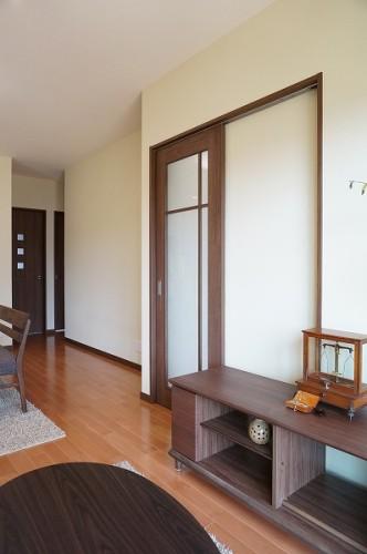 岡山市 自然の素材を使った平屋の家・リビングルーム
