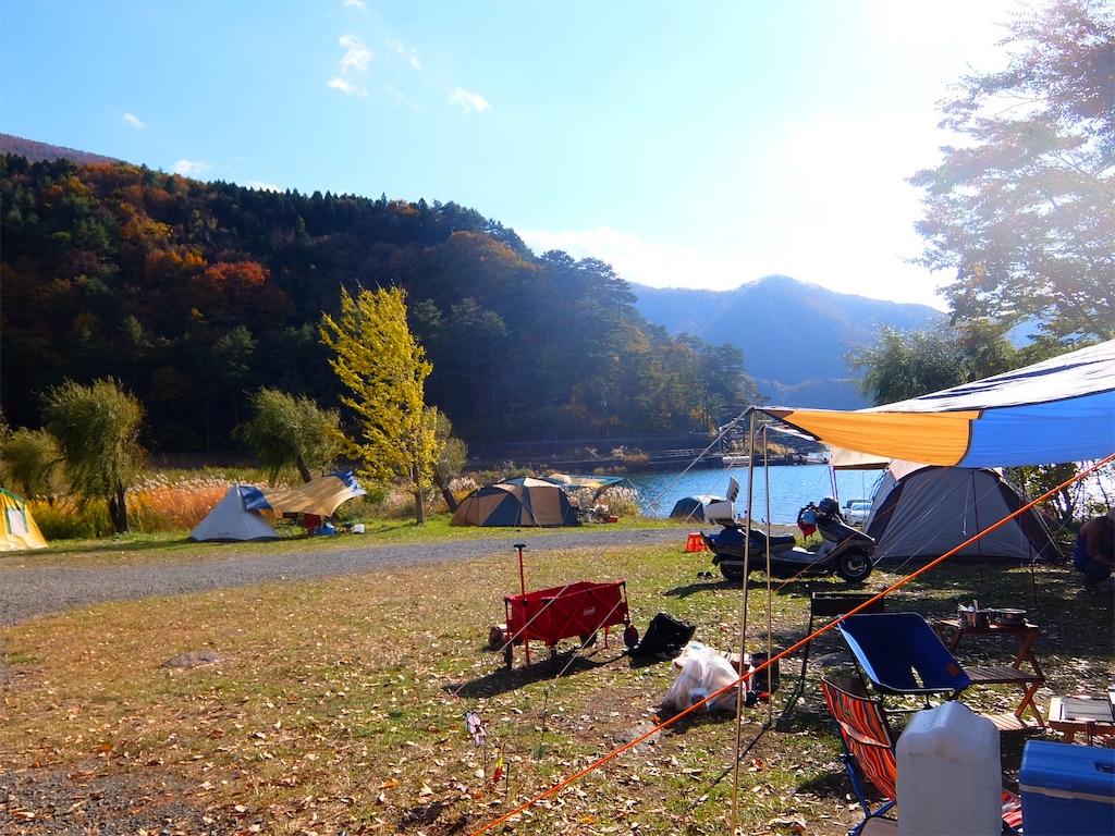 秋のキャンプ 富士五湖西湖 西湖湖畔キャンプ場 - 有意義なこと ...