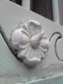 池田銀行の窓枠の装飾