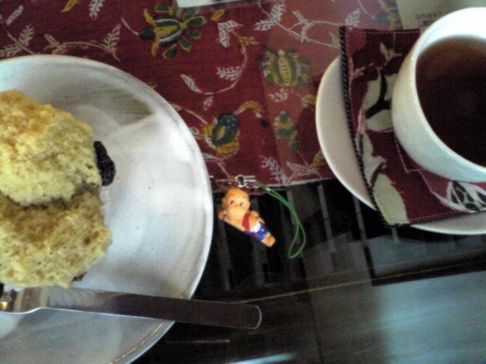 ロカシカカフェ:黒豆蒸しパン