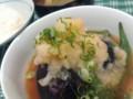 [晩飯]茄子とオクラの素揚げの煮浸し