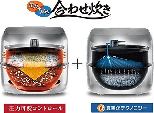 東芝 真空圧力IHジャー炊飯器(5.5合炊き) RC-10ZWM-K