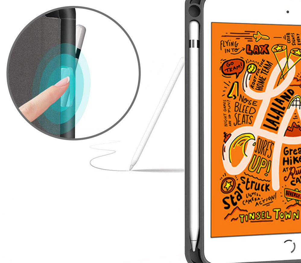 iPad mini5ケース Apple pencil収納可能なシンプルモデル