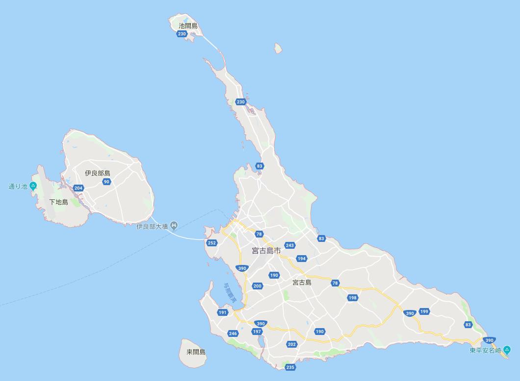 宮古島マップ