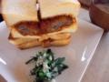 [gourmet][滋賀]ソラノネ「カツサンドプレート」