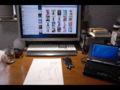 2013年の年賀状制作中デスクトップ