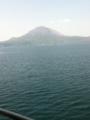 船上より見る桜島