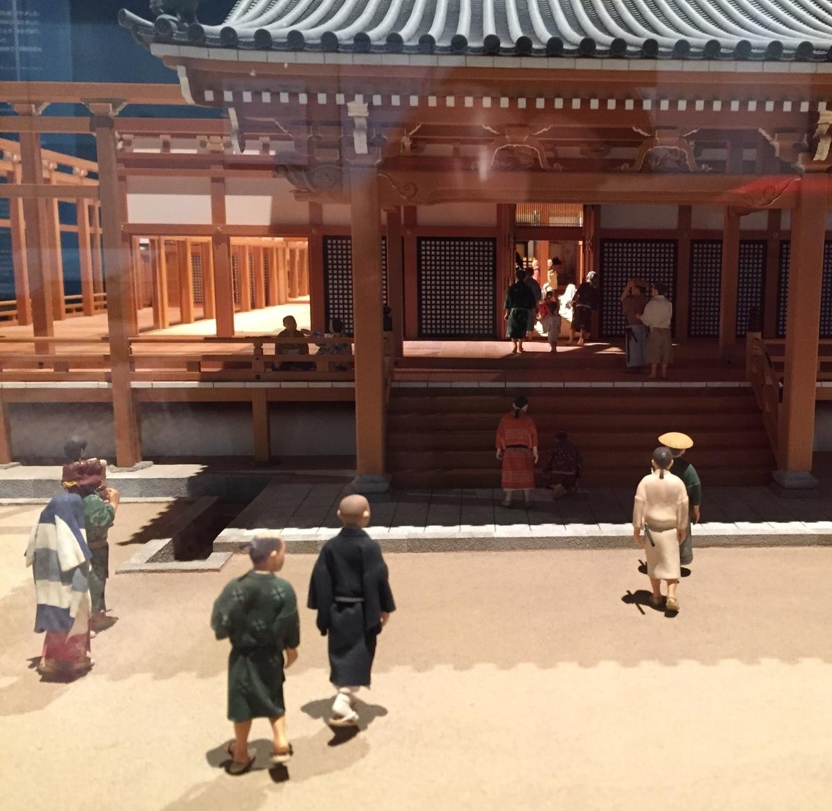 本願寺と参拝者の模型