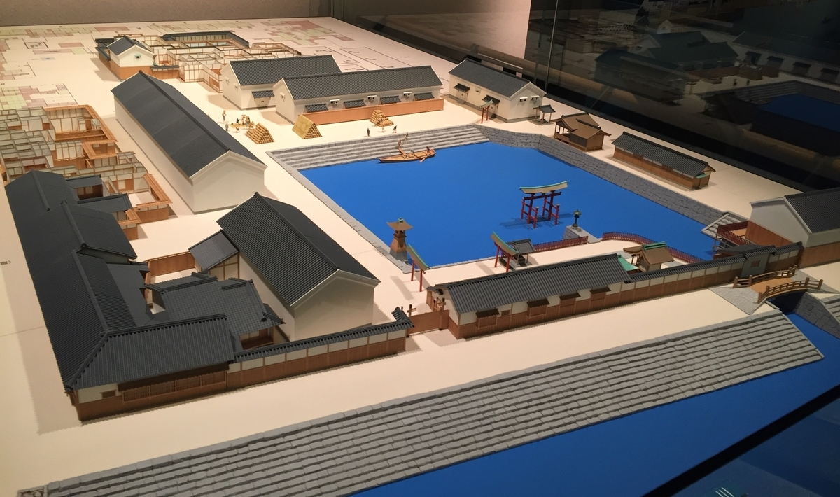 廣島藩蔵屋敷の模型