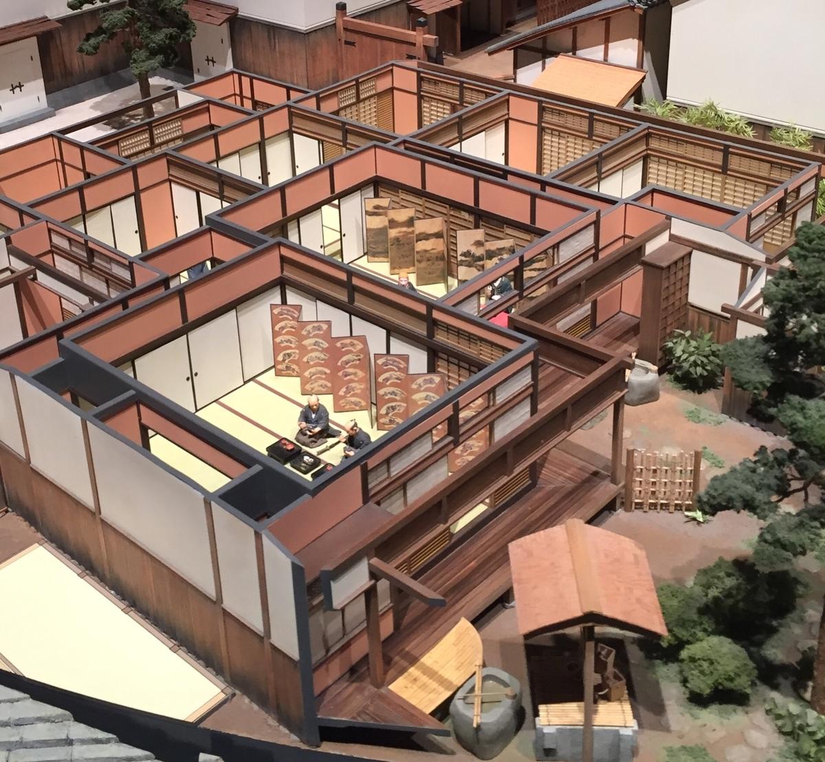 住友銅吹所の模型の屋敷部分
