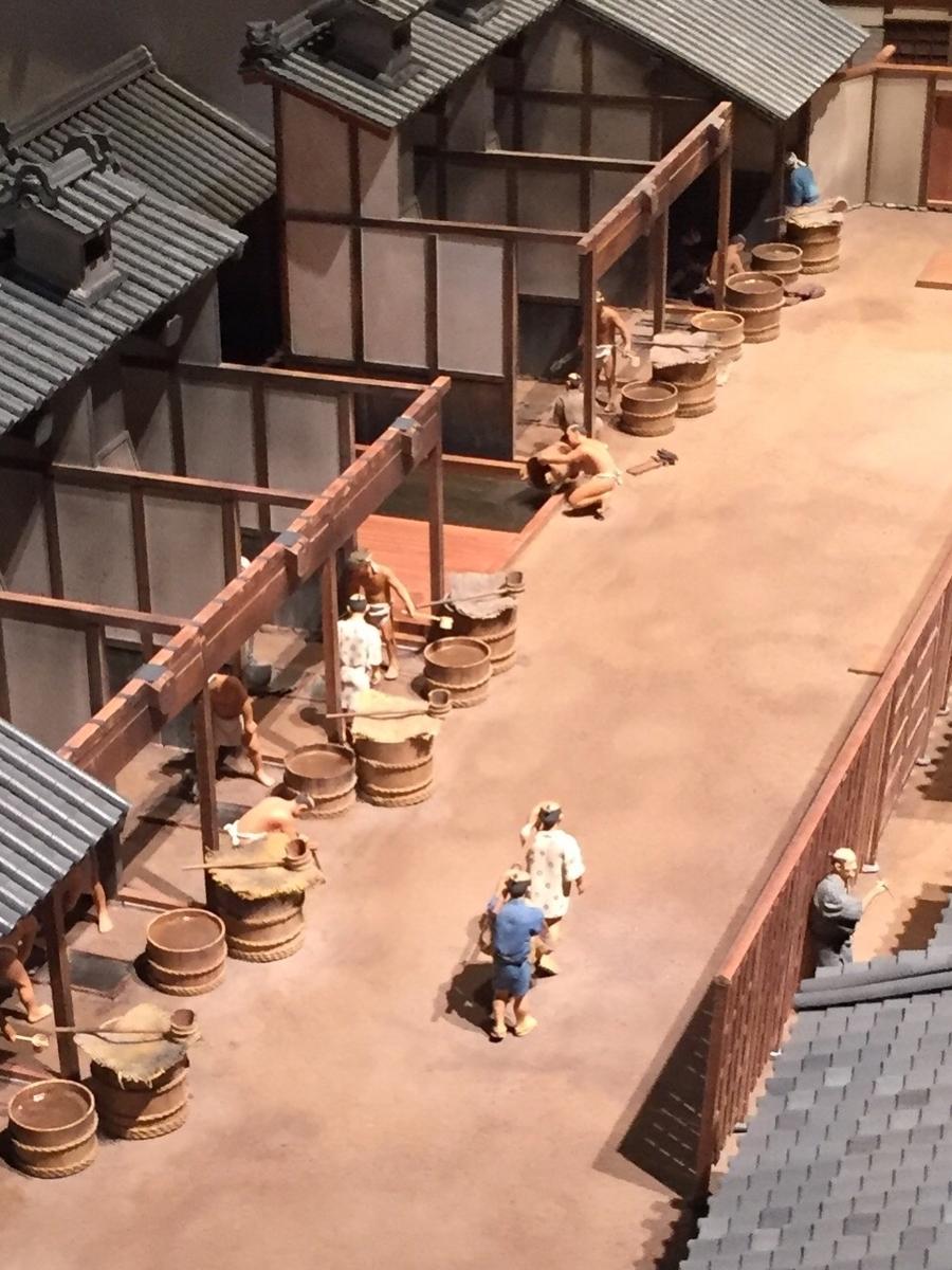 住友銅吹所の模型の工場部分