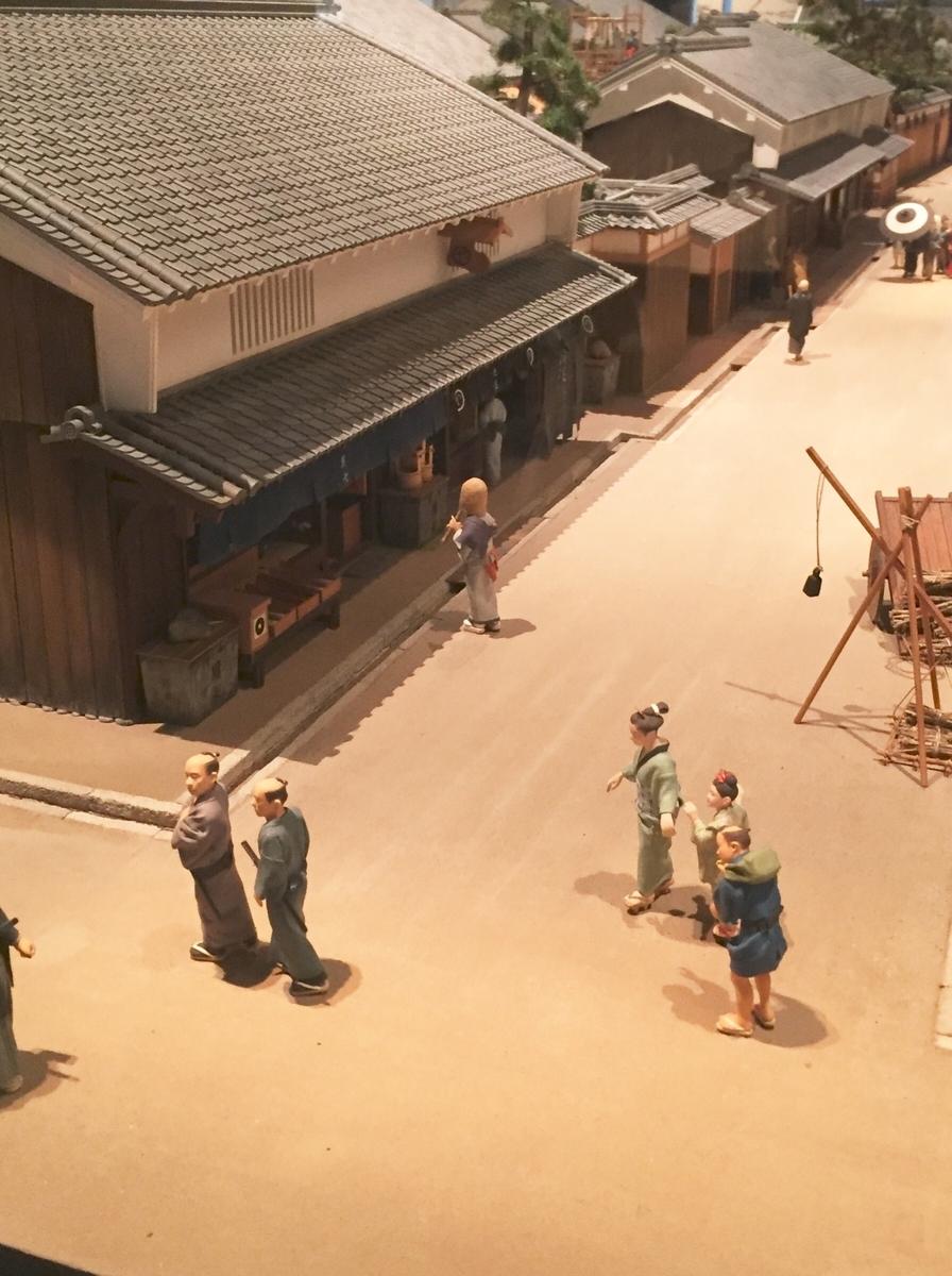 船場の町の通りの模型