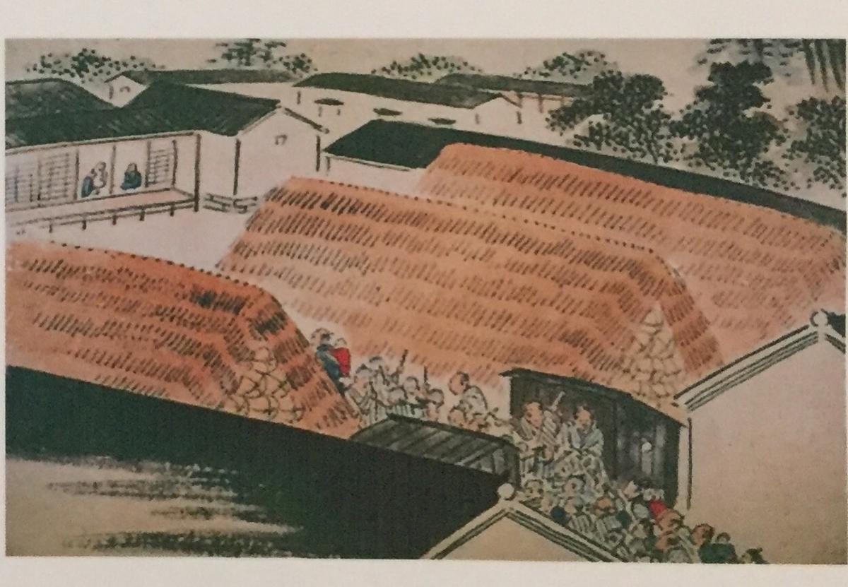 久留米藩水天宮の祭礼の錦絵