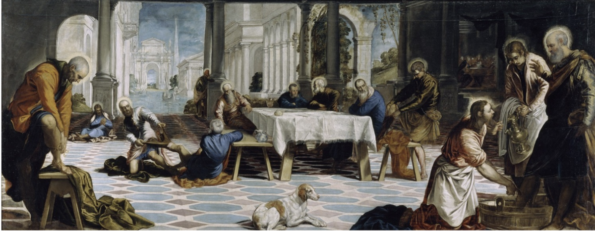 The washing the feet- Tintoretto