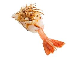 マーラー風味赤海老揚げネギ添え