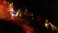 美しいね、夜空に輝く星と銀河とオーロラ。