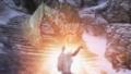 古き竜の言葉「シャウト」を用いた炎の息吹