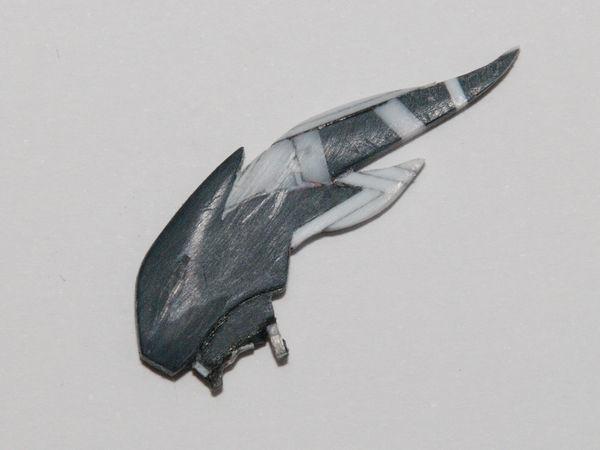 トールギスフリューゲル トサカの形状出し