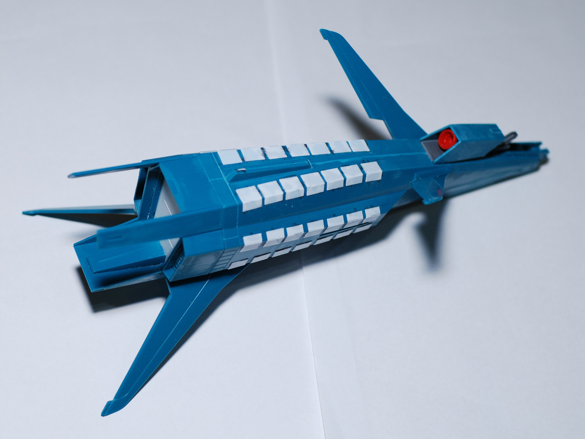 ギャプランブースターをミサイルコンテナに改造ハッチ工作